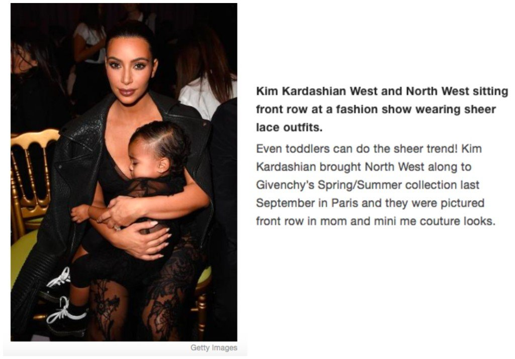 Celebrity Mother Daughter Matching Outfits_Kim Kardashian West