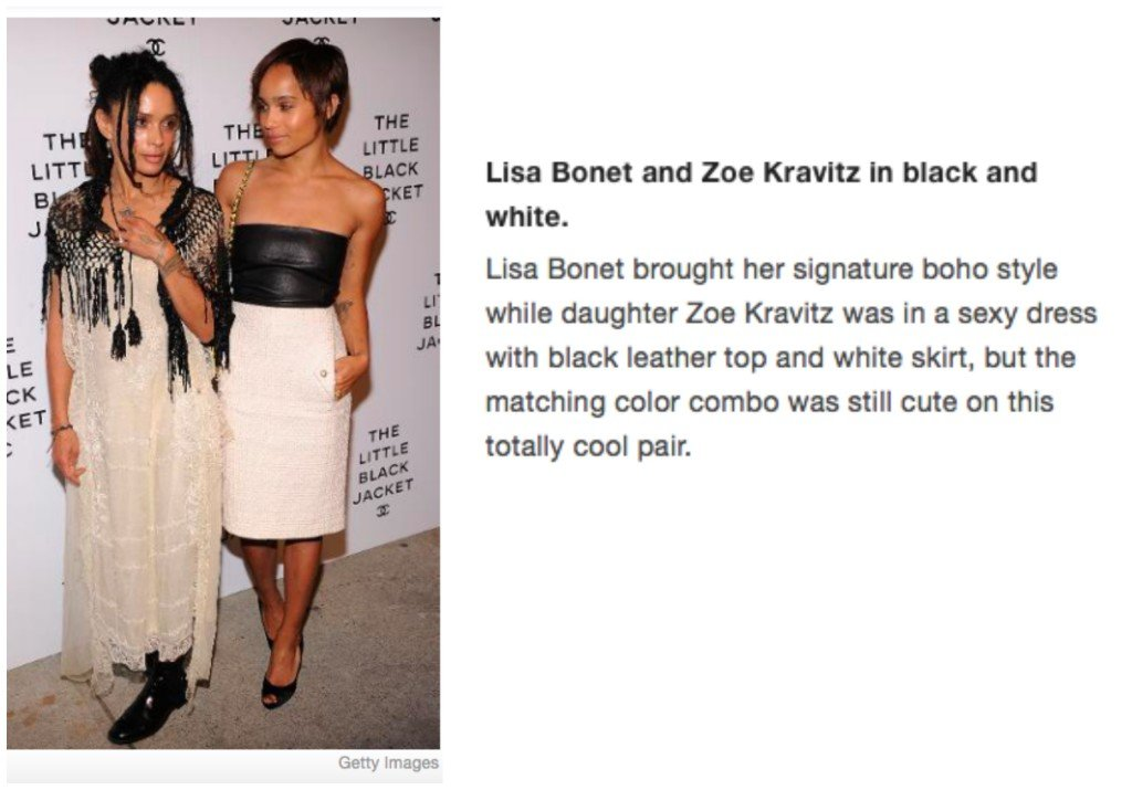 Celebrity Mother Daughter Matching Outfits_Lisa Bonet_Zoe Kravitz