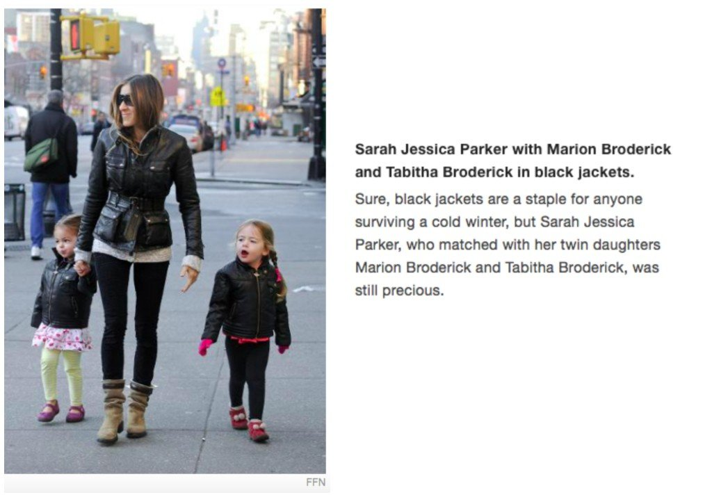 Celebrity Mother Daughter Matching Outfits_Sarah Jessica Parker