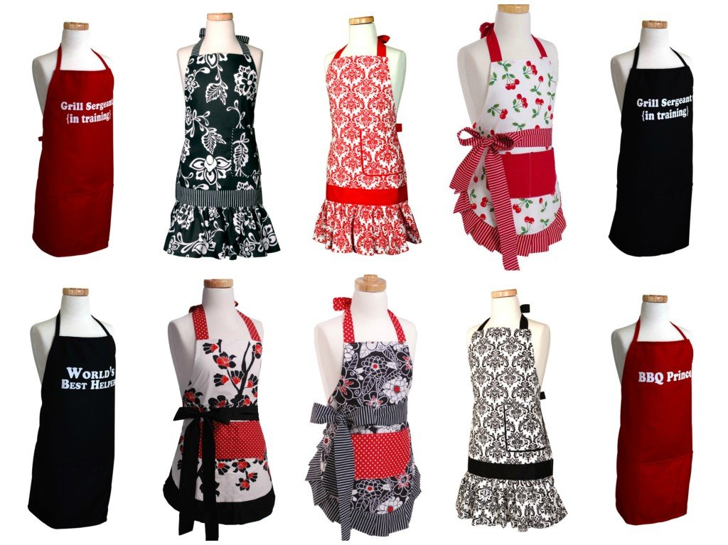 Kids Black & Red Aprons
