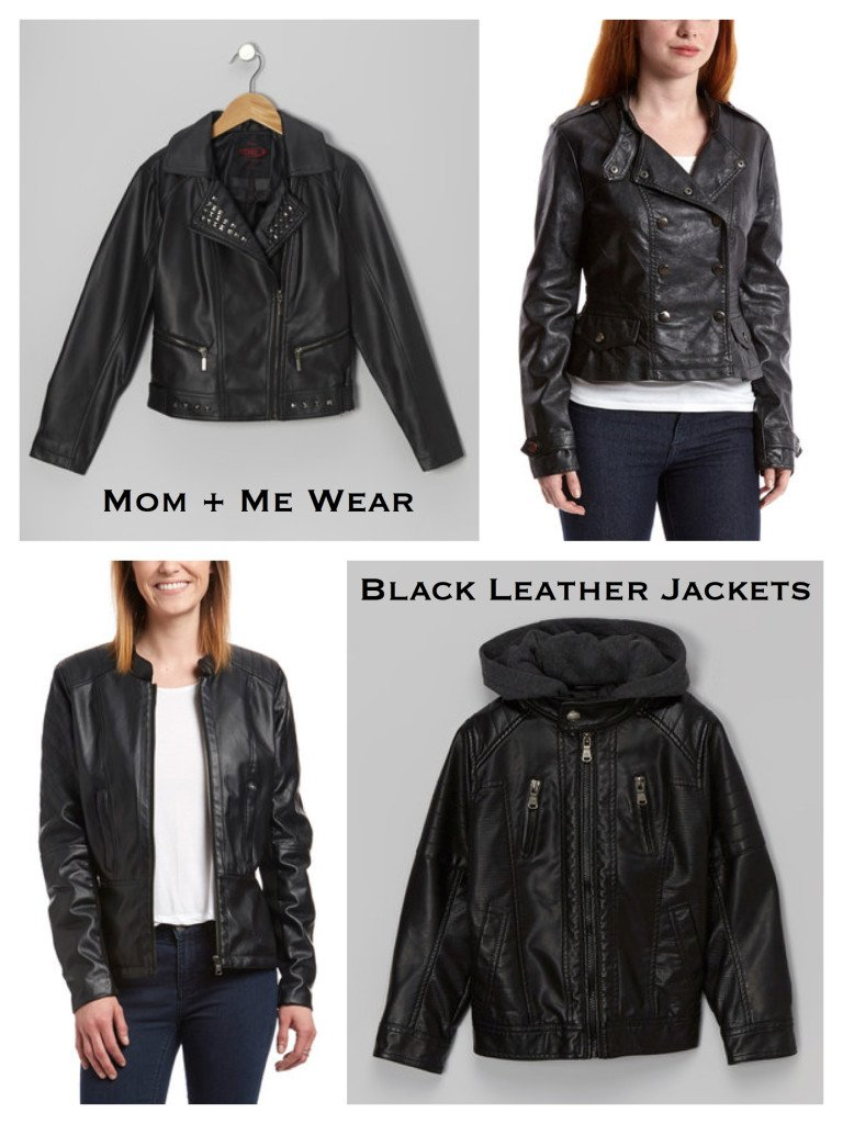 Mother Daughter Black Leather Jackets