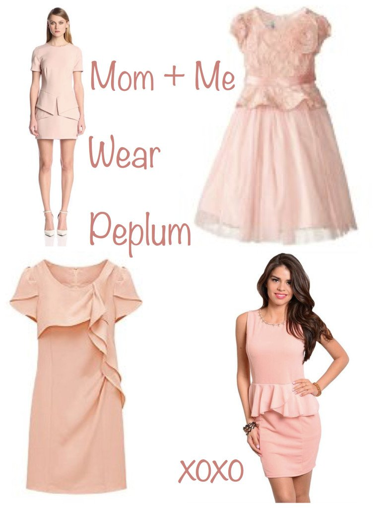 Mother Daughter Matching Pink Peplum
