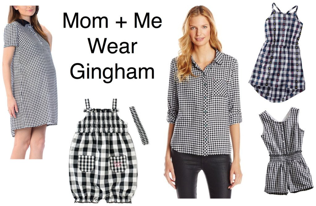 Mother daughter wear matching gingham