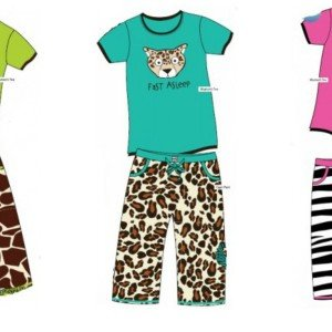 Cute Animal Print Mommy and Me Matching Pajamas