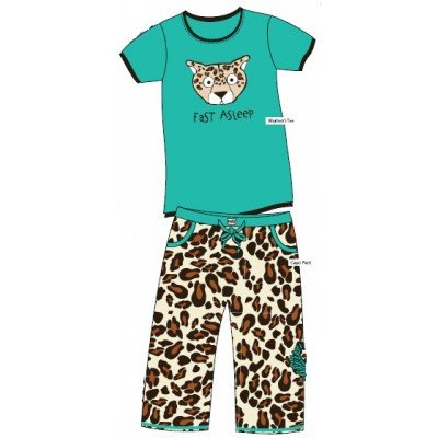 Lazy One Fast Asleep Mommy & Me Animal Print Matching Pajamas