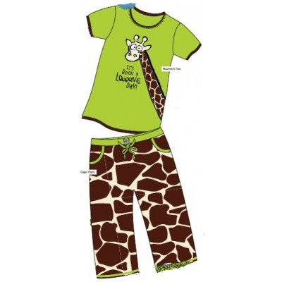 Lazy One Long Day Mommy & Me Animal Print Matching Pajamas