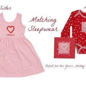 Big Sister Baby Sister Matching Sleepwear Perfect for this Year's Holiday Card Message of Love