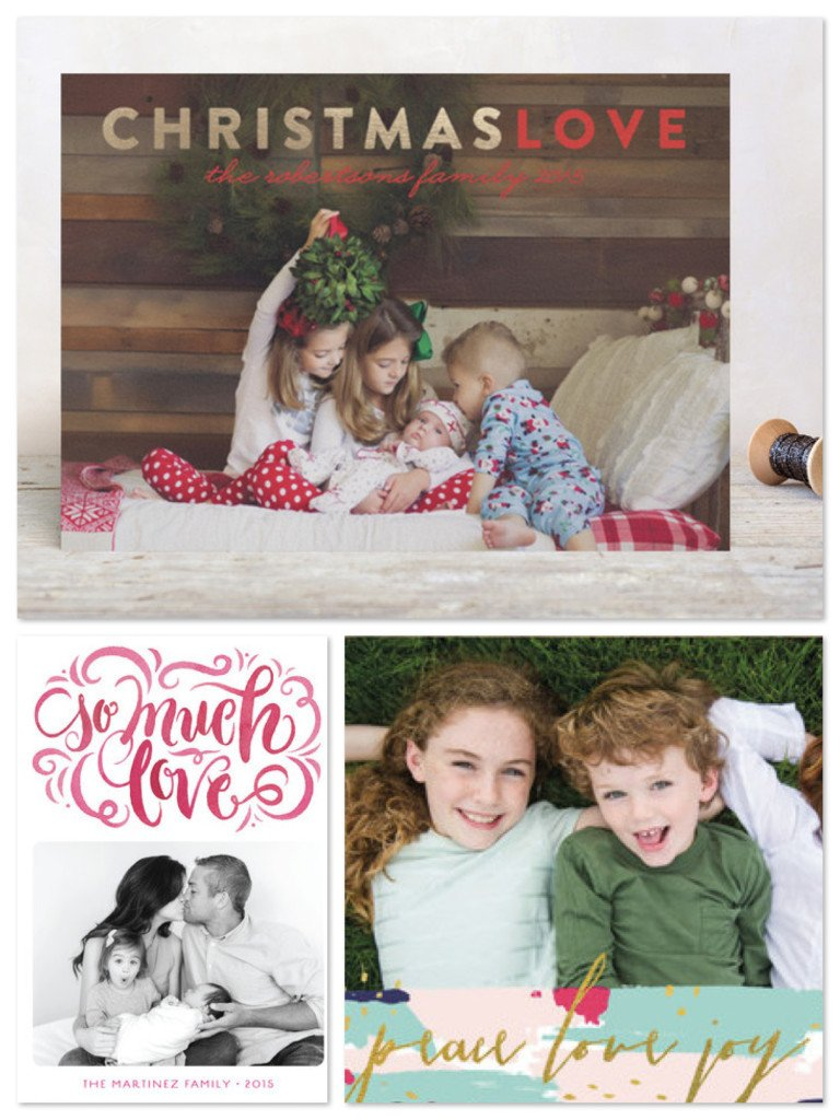 Christmas Love Holiday Cards, Holiday Photo Card Messages of Love