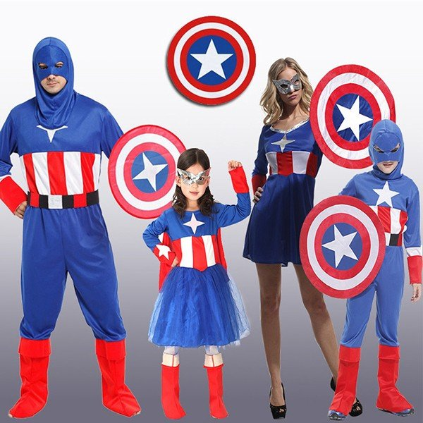 Halloween Family Captain America Cosplay Costume
