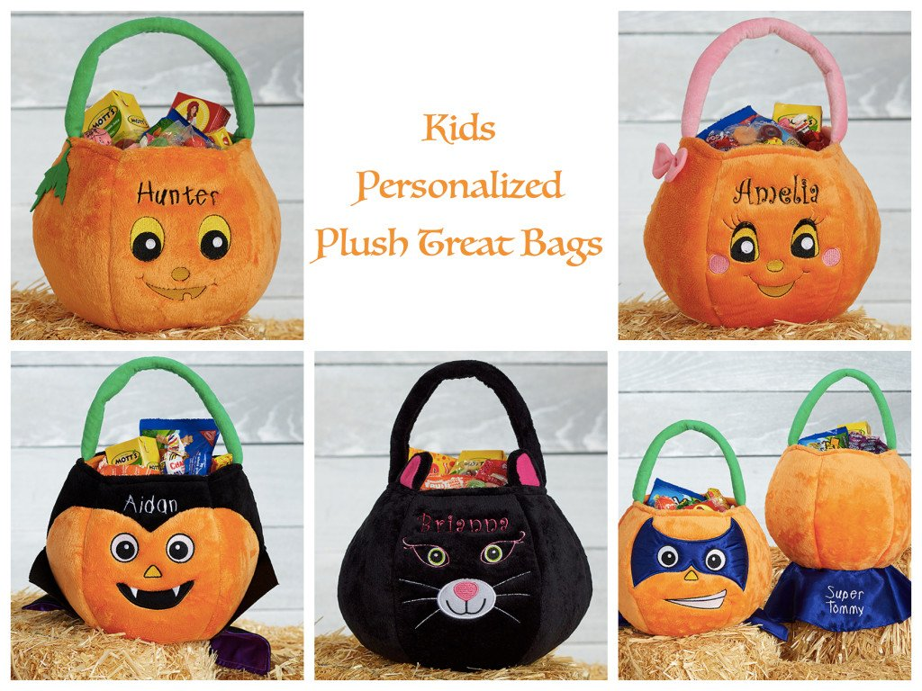 Kids Personalized Plush Treat Bags