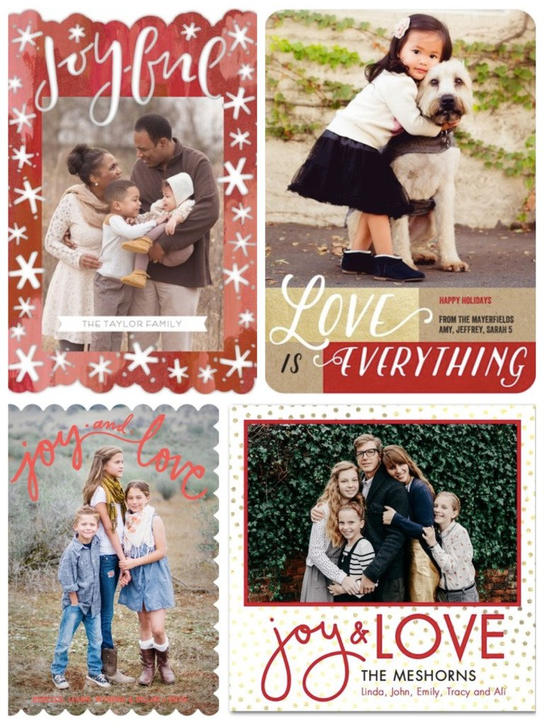 Love Holiday Cards, Holiday Photo Card Messages of Love
