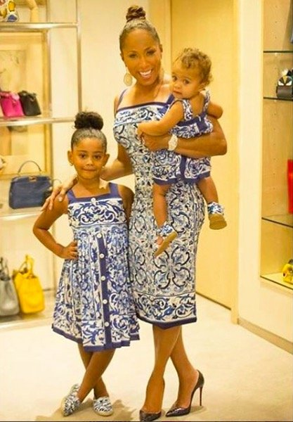 Marjorie Harvey, Haleigh & Baby_Rose Wearing Matching Dolce & Gabana