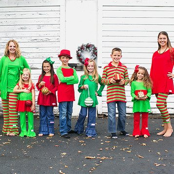 Match and Be Merry Outfits for Mommy, Me, & the Whole Family