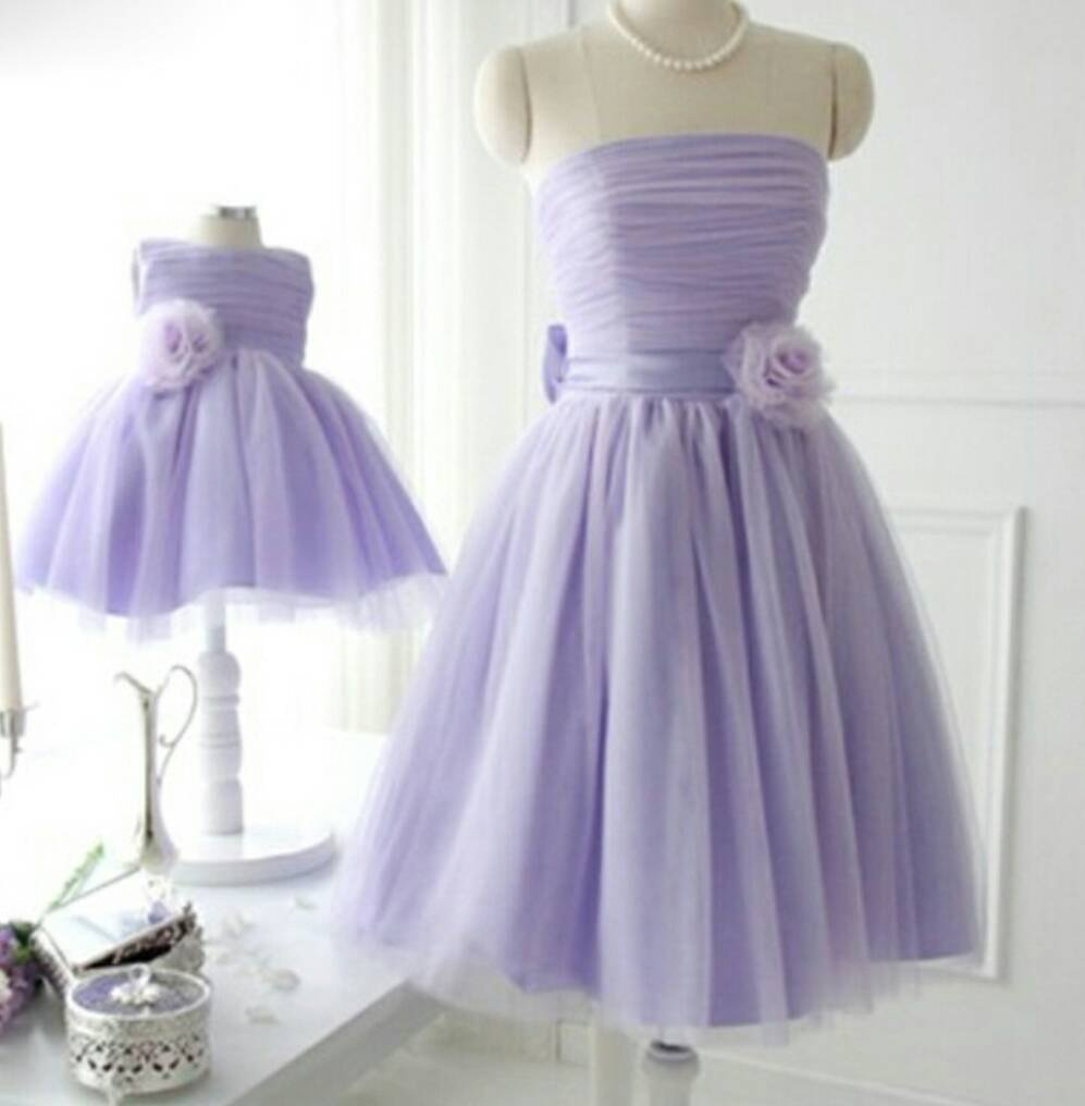 Matching Mother Daughter Lilac Special Occasion Dresses