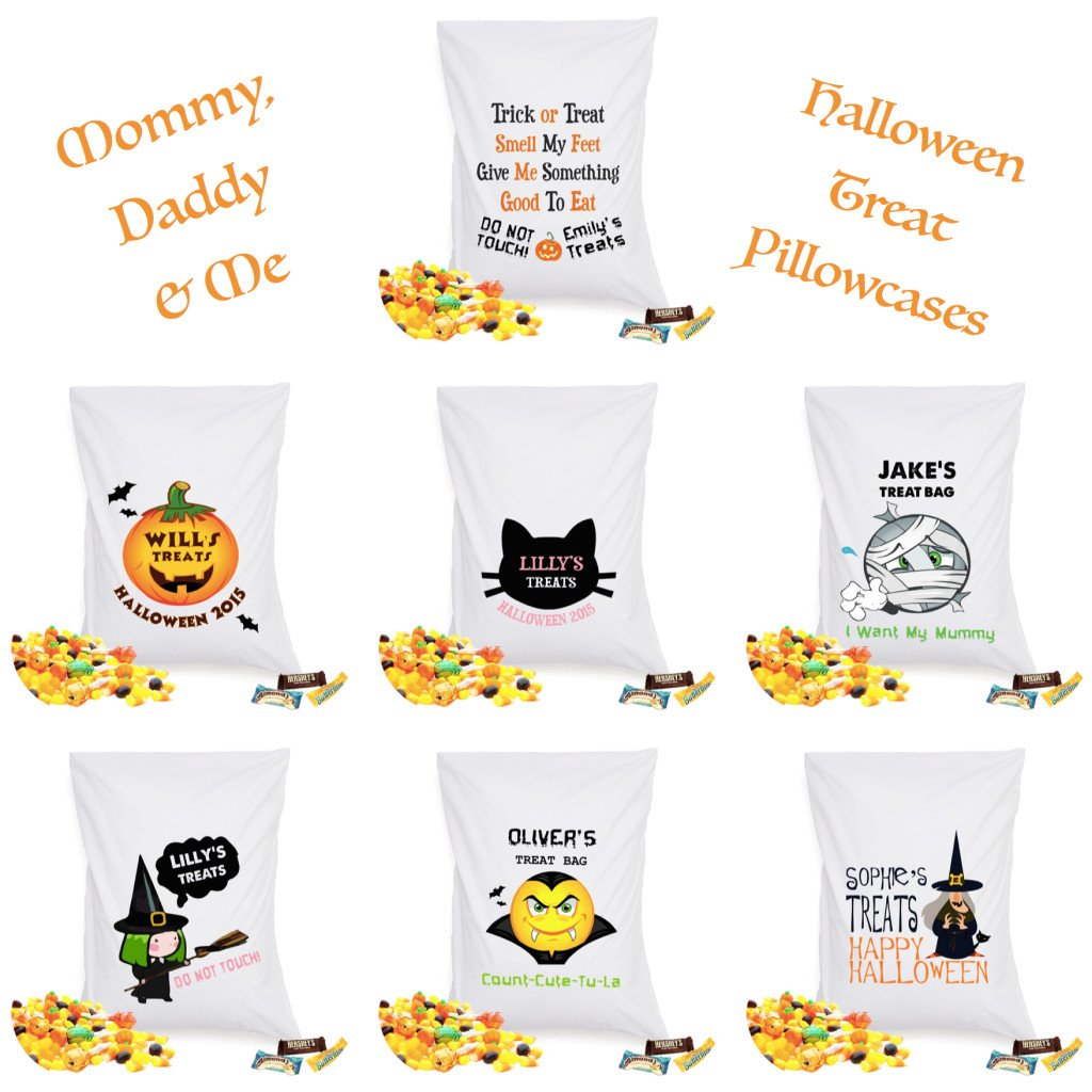 Mommy Daddy & Me Halloween Treat Pillowcases