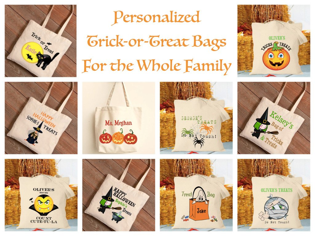 Halloween Trick Or Treat Bags Personalized.Personalized Family Trick Or Treat Bags Halloween