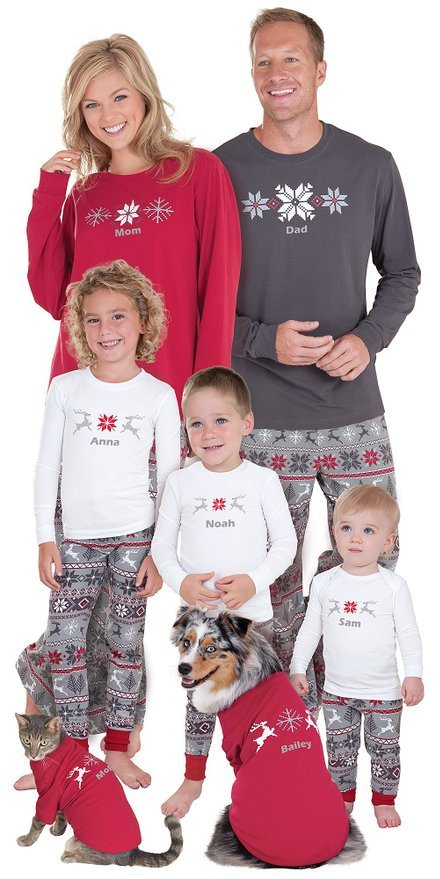 Classic Holiday Nordic Family Matching Pajamas