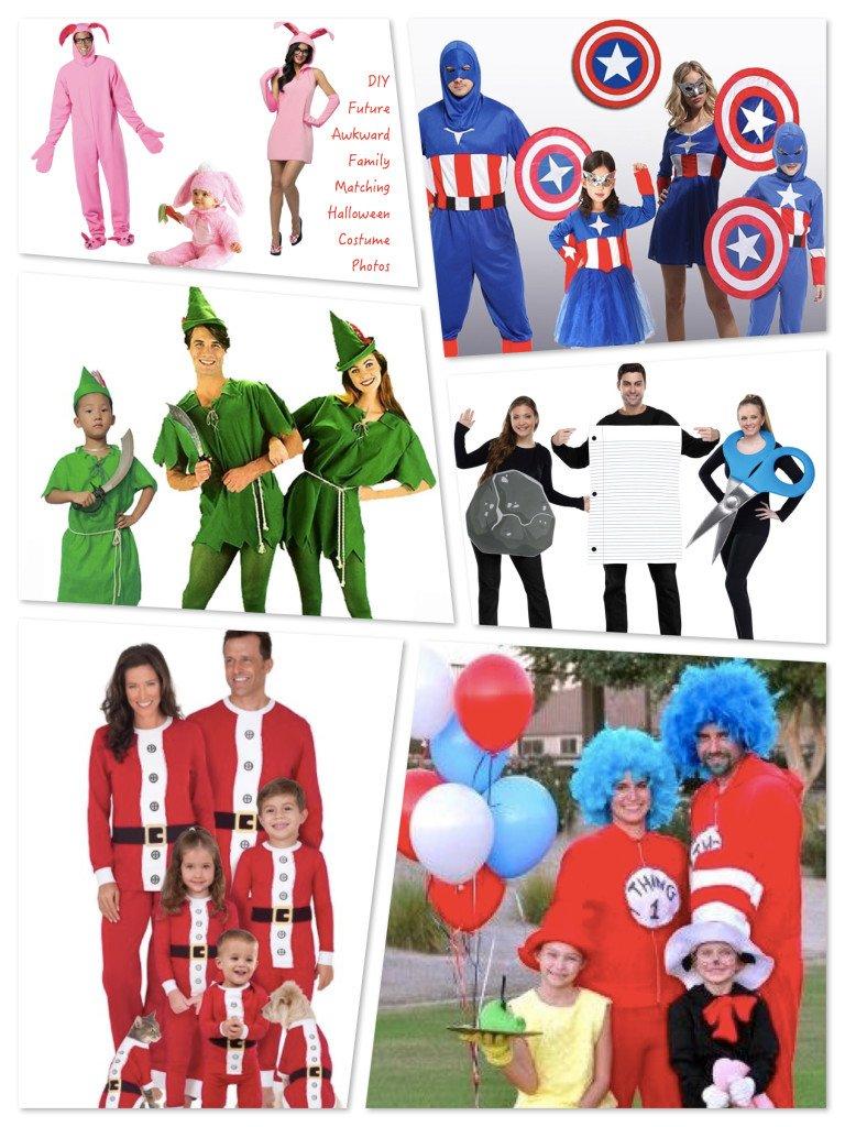 DIY Future Awkward Family Matching Halloween Costume Photos