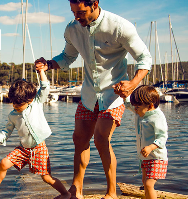 Daddy and Boys Matching Shirts and Shorts