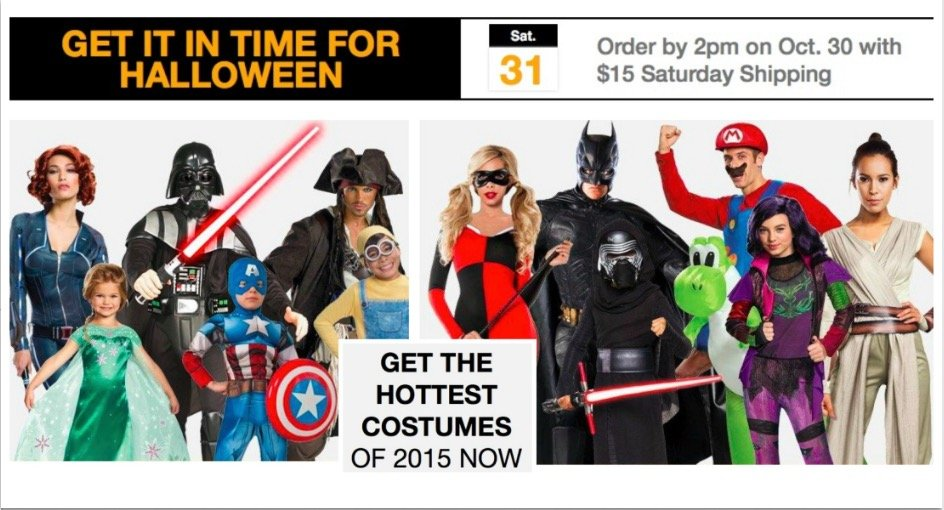 Last Minute Halloween Costume Delivery