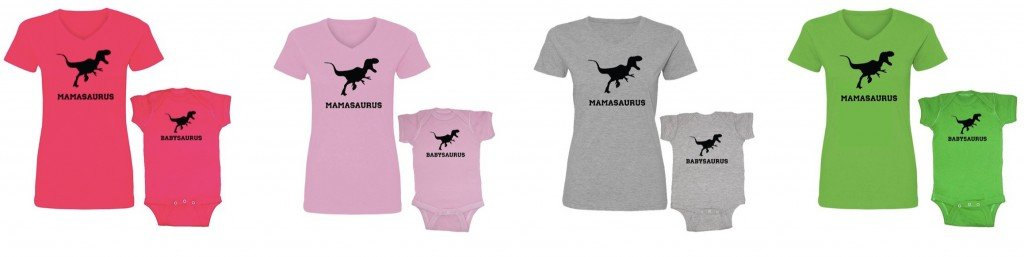 Matching Mommy and Me Dinosaur Shirts