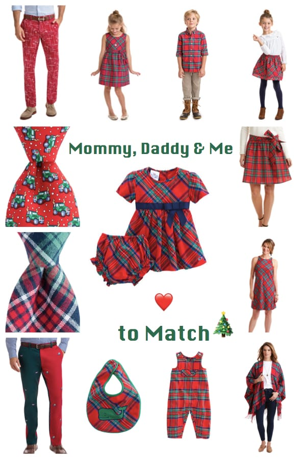 Mommy Daddy and Me Love to Match in Vineyard Vines Holiday Outfits