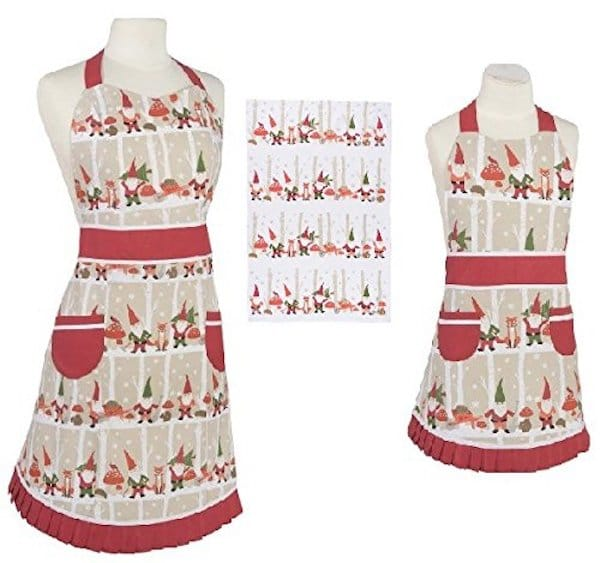Mother Daughter Matching Christmas Gnome Aprons