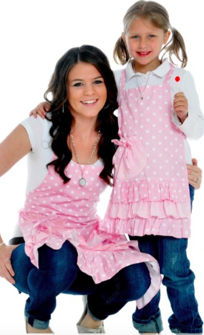 Mother Daughter Matching Strawberry Shortcake Flirty Aprons, Mother Daughter Kitchen Fun