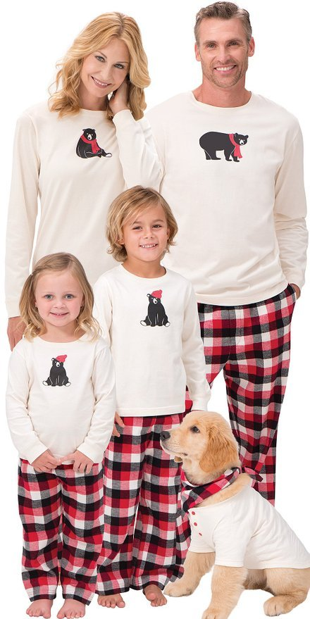 Plaid Flannel HiBEARnate Family Matching Pajamas