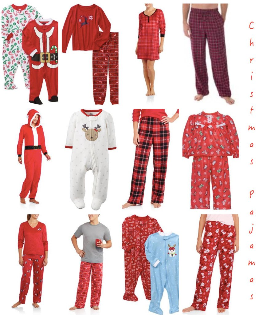 cheap christmas pajamas walmart holiday pajamas - Walmart Christmas Pajamas