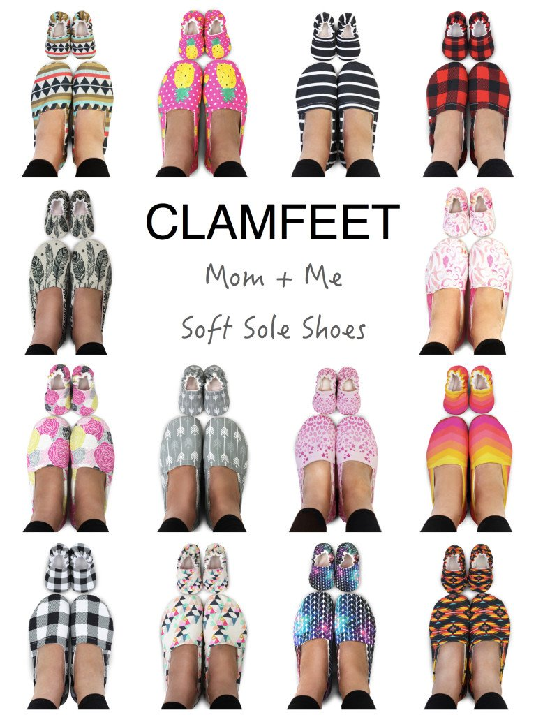 Clamfeet Mother & Baby Matching Soft Sole Shoes, Adorable Matching Mother Baby Mocs
