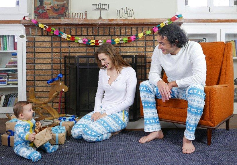 Family Matching Hanukkah Pajamas and Loungewear