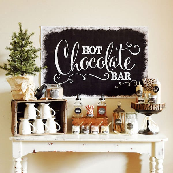 Hot Chocolate Bar Printable Decorations