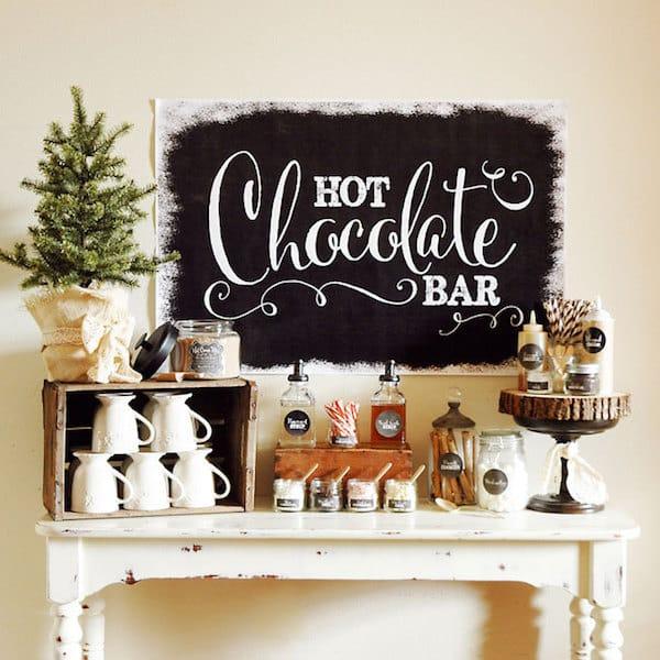 Hot Chocolate Bar Printable Decorations