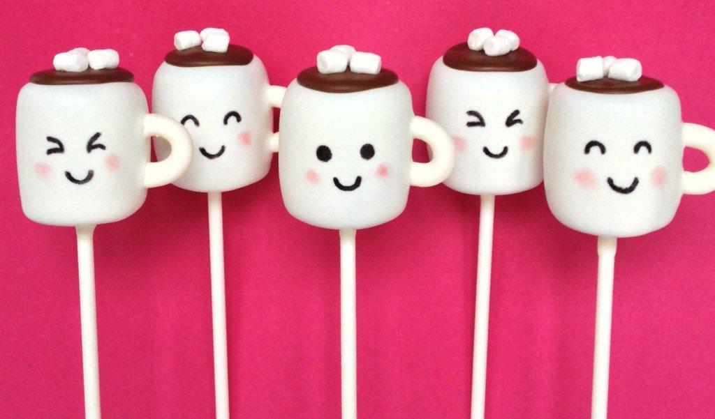 Hot Chocolate Mug Cake Pops