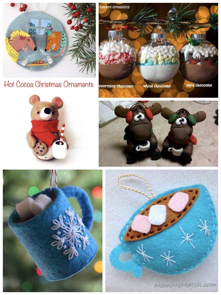 Hot Cocoa Christmas Ornaments