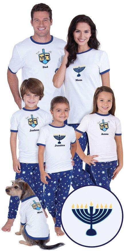 Matching Family Hanukkah Pajamas