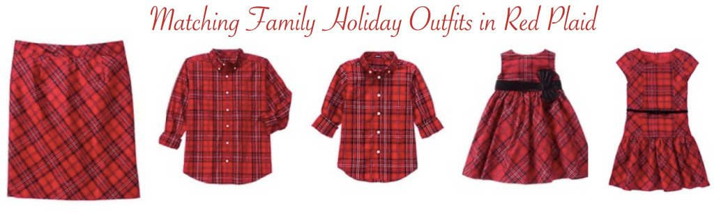 Matching Family Holiday Outfits in Red Plaid