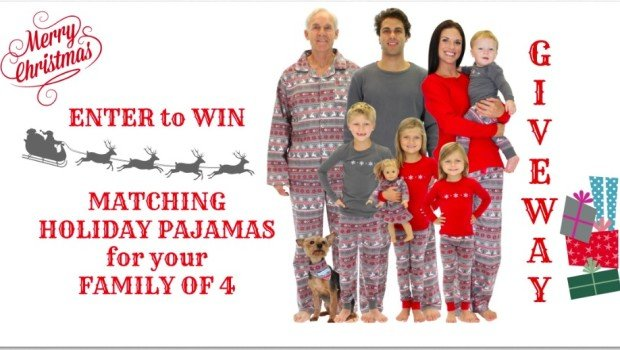 Enter to WIN this Family Matching Holiday Pajamas Giveaway! e189459e1
