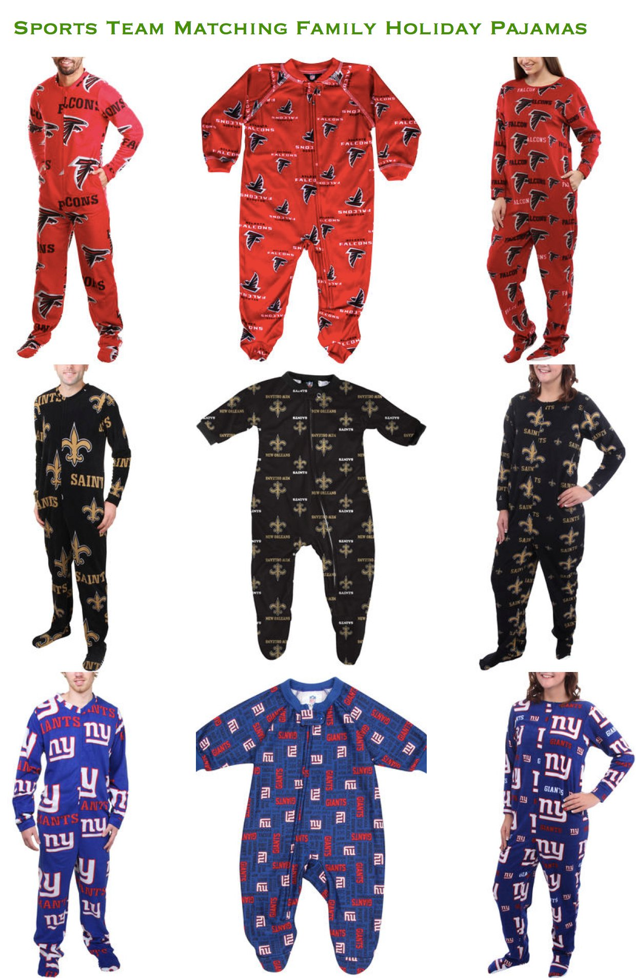 Sports Team Family Matching Holiday Pajamas