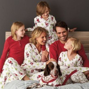 The Company Store Family Matching Ski Santa Pajamas
