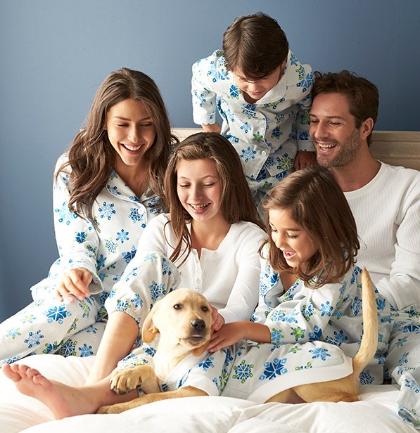 The Company Store Family Matching Snowflake Pajamas