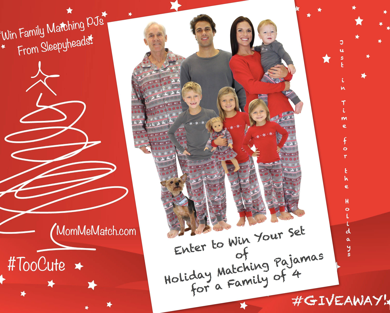 Win Family Matching Holiday Pajamas, Family Matching Holiday Pajamas Giveaway