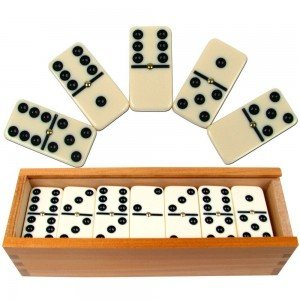 Dominoes with Wood Case