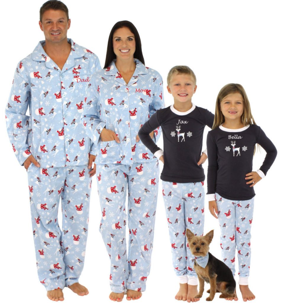 Embroidered Family Snowman Pajamas