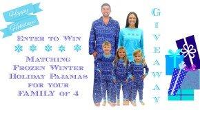 Family Matching Holiday Pajamas Giveaway