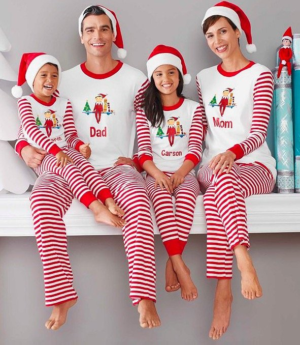 Family Matching Holiday The Elf On The Shelf Pajamas