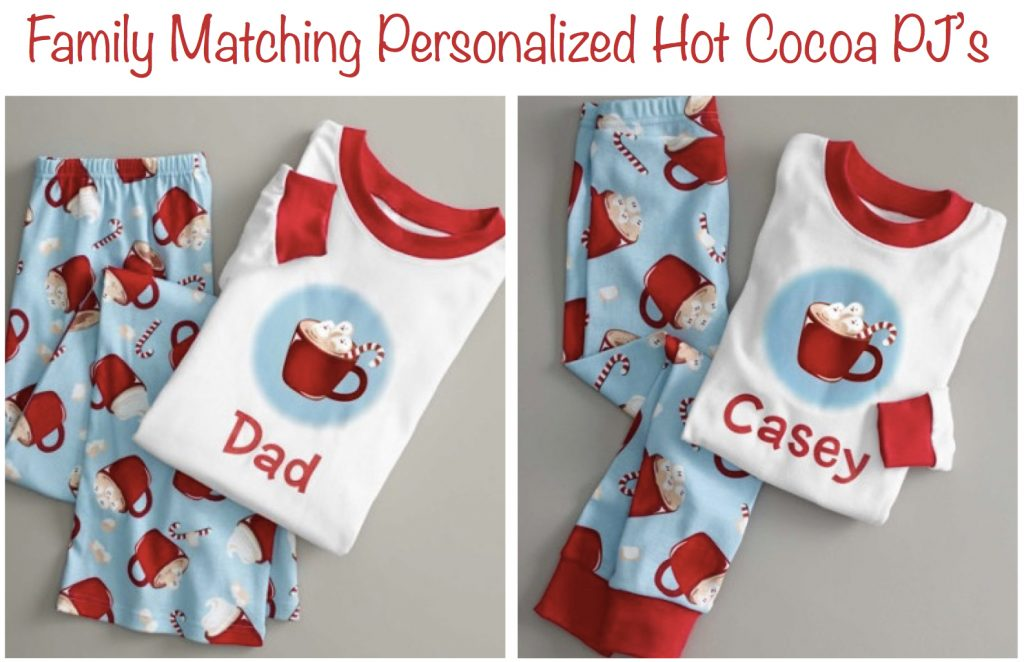 Family Matching Personalized Hot Cocoa PJs