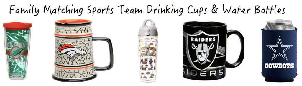 Family Matching Sports Team Drinking Cups
