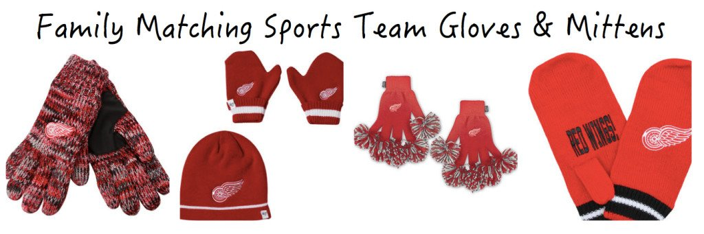 Family Matching Sports Team Gloves Mittens